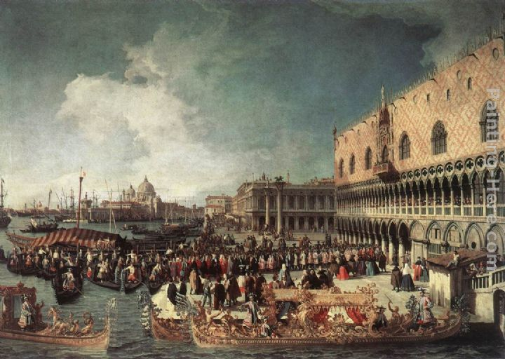 Canaletto Reception of the Ambassador in the Doge's Palace Art Painting