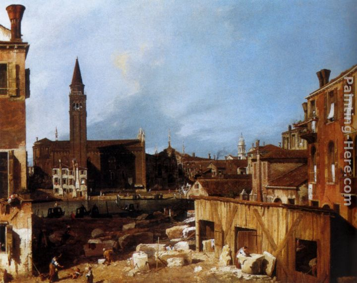 Stonemason's Yard painting - Canaletto Stonemason's Yard art painting