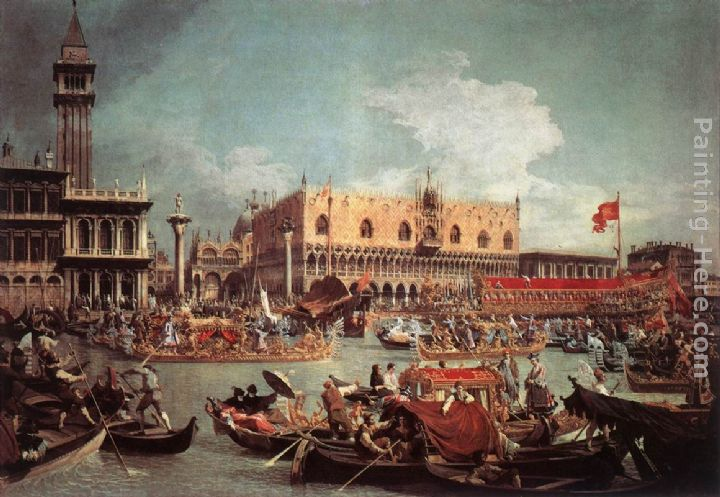 The Bucintoro Returning to the Molo on Ascension Day painting - Canaletto The Bucintoro Returning to the Molo on Ascension Day art painting