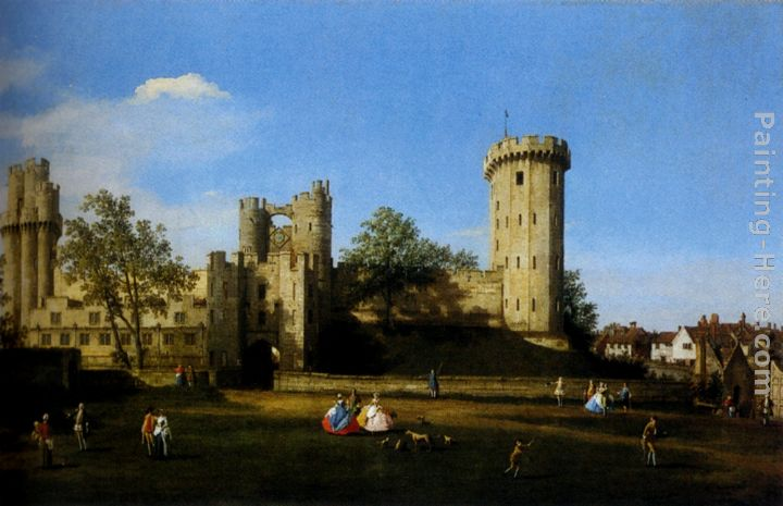 The Eastern Facade Of Warwick Castle painting - Canaletto The Eastern Facade Of Warwick Castle art painting
