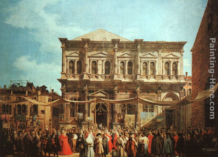The Feast Day of St Roch painting - Canaletto The Feast Day of St Roch art painting