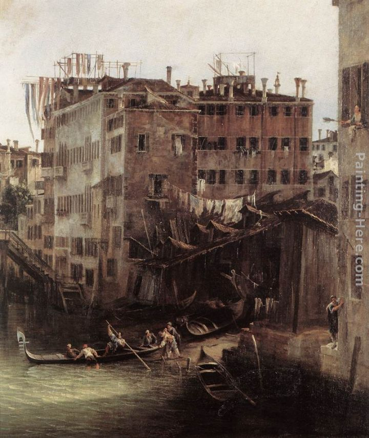 Canaletto The Rio dei Mendicanti (detail) Art Painting