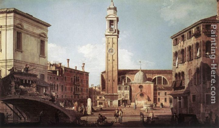 View of Campo Santi Apostoli painting - Canaletto View of Campo Santi Apostoli art painting