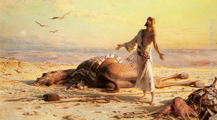 Shipwreck in the Desert painting - Carl Haag Shipwreck in the Desert art painting