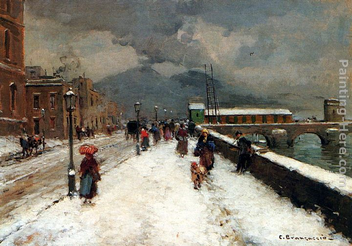 Carlo Brancaccio A Blustery Winter Day Art Painting