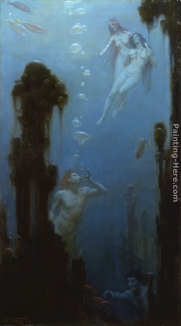 A Deep Sea Fantasy painting - Charles Courtney Curran A Deep Sea Fantasy art painting