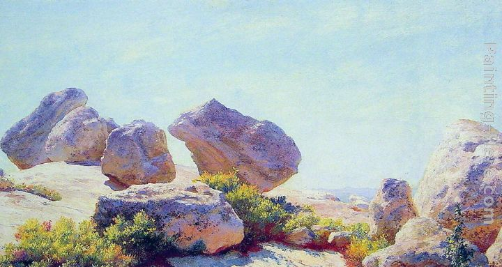 Boulders on Bear Cliff painting - Charles Courtney Curran Boulders on Bear Cliff art painting