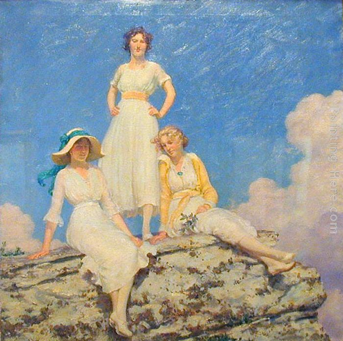 Noonday Sunlight painting - Charles Courtney Curran Noonday Sunlight art painting