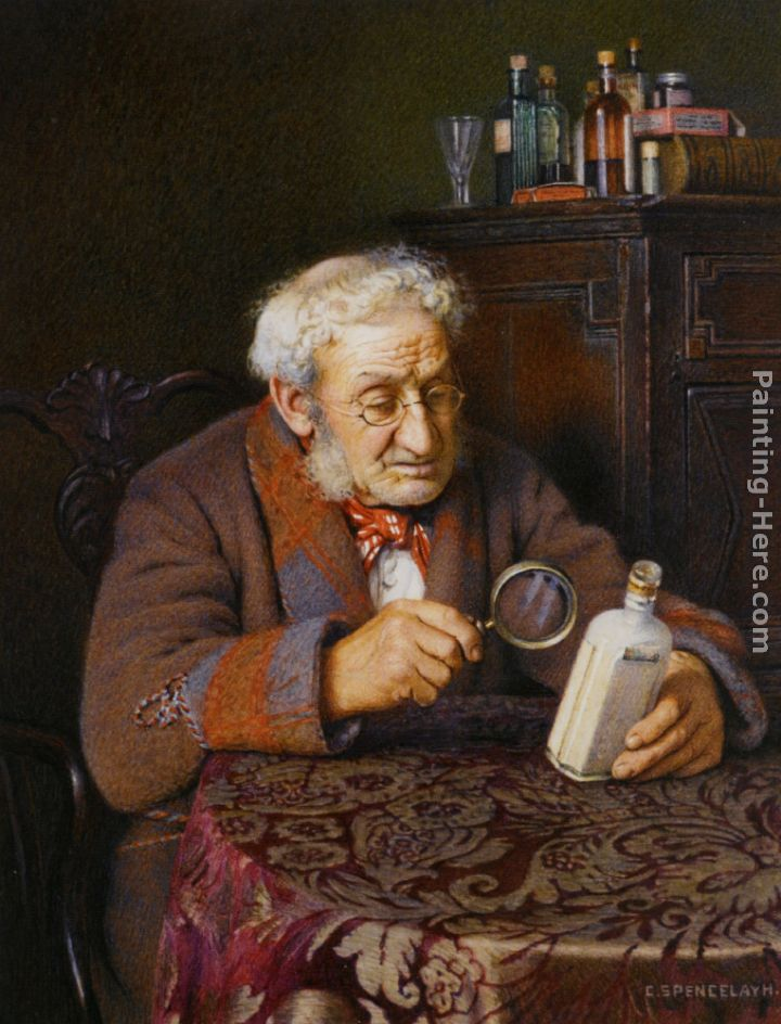 Charles Spencelayh A Touch of Rheumatism Art Painting