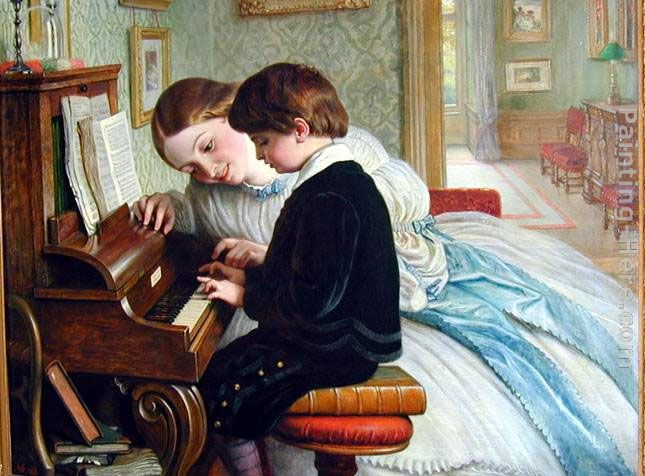 Charles West Cope The Music Lesson Art Painting