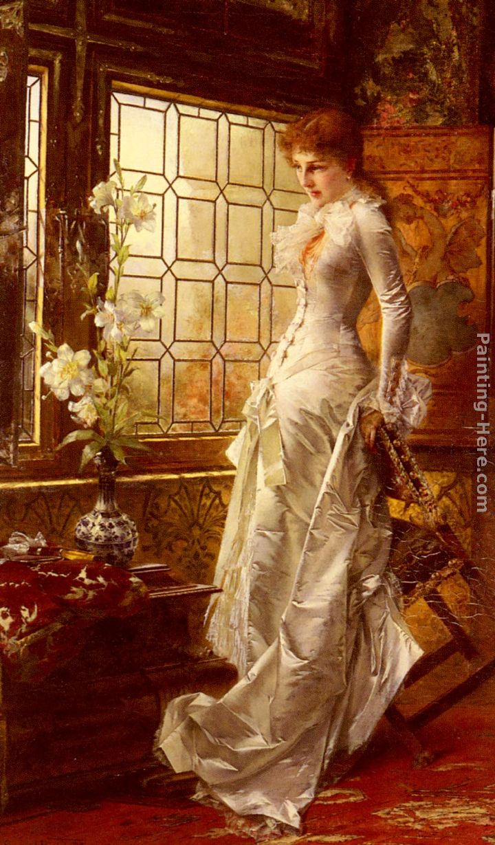 At The Window painting - Conrad Kiesel At The Window art painting