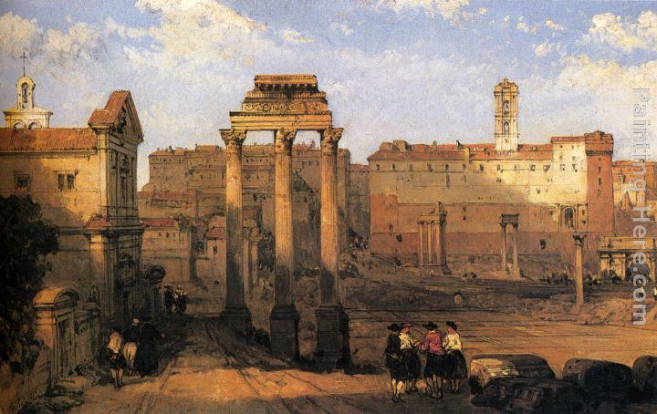David Roberts The Forum Rome Painting Anysize 50 Off