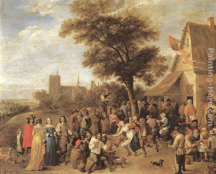 David the Younger Teniers Peasants Merry-making Art Painting