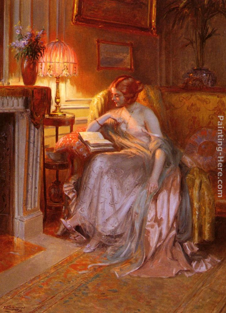 delphin enjolras la lecture pres de la lampe painting anysize 50 off la lecture pres de la. Black Bedroom Furniture Sets. Home Design Ideas