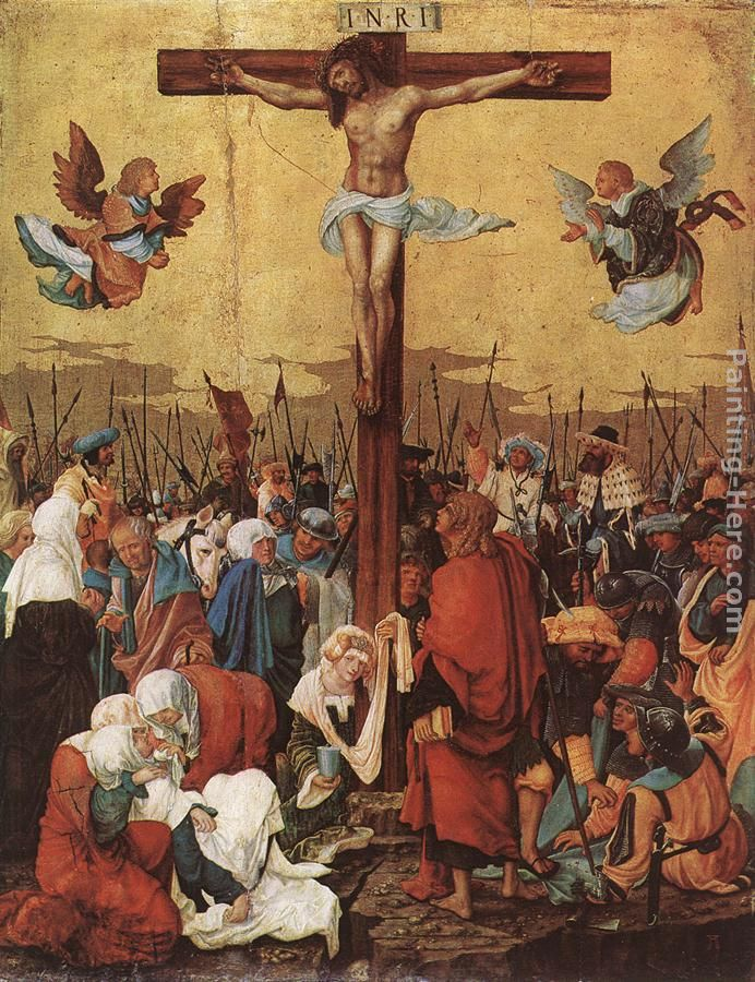 Christ On The Cross painting - Denys van Alsloot Christ On The Cross art painting