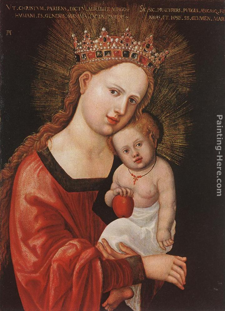Mary With The Child painting - Denys van Alsloot Mary With The Child art painting