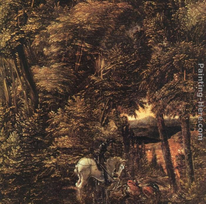 Denys van Alsloot Saint George In The Forest Art Painting