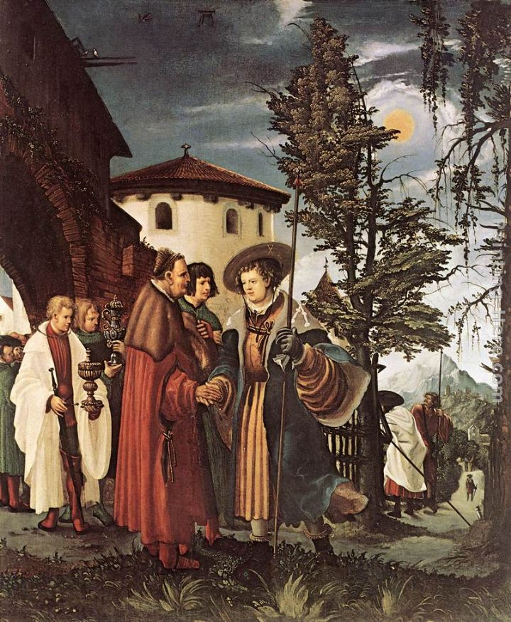 St. Florian Taking Leave Of The Monastery painting - Denys van Alsloot St. Florian Taking Leave Of The Monastery art painting