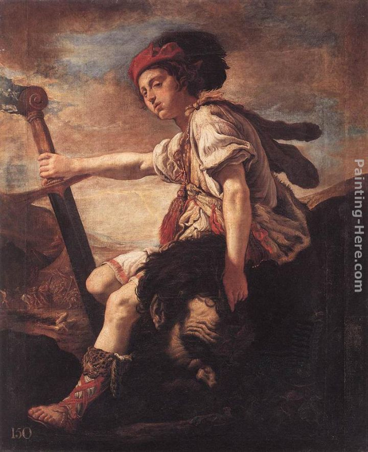 David with the Head of Goliath painting - Domenico Feti David with the Head of Goliath art painting
