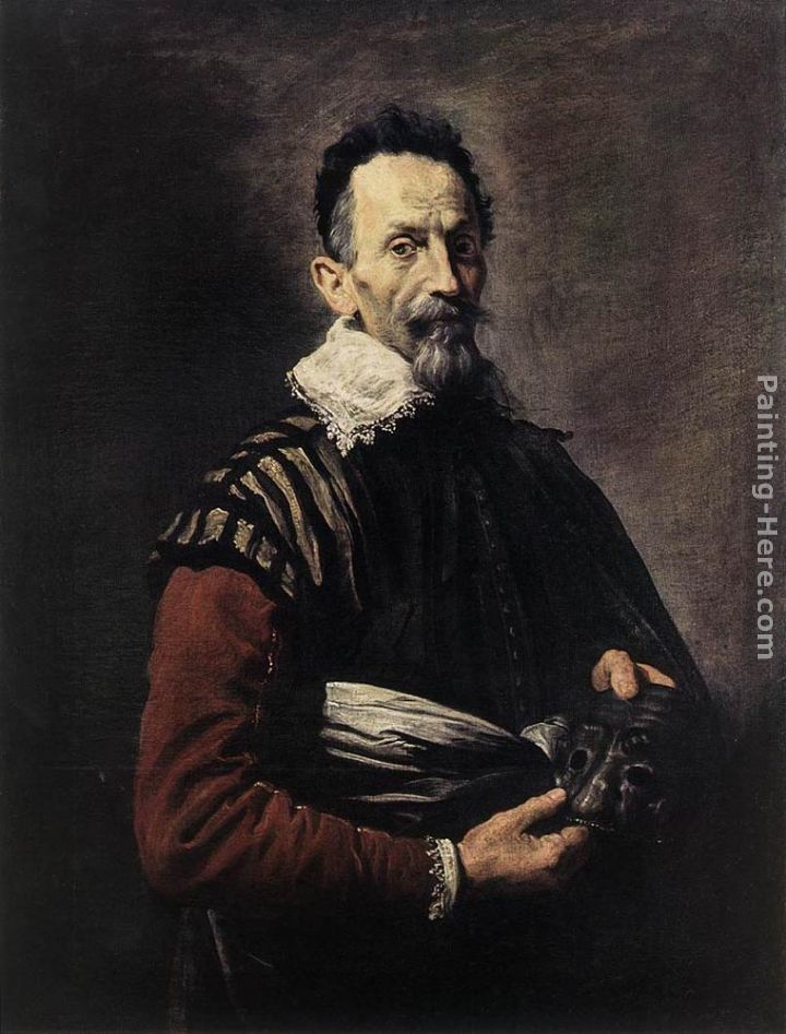 Portrait of an Actor painting - Domenico Feti Portrait of an Actor art painting
