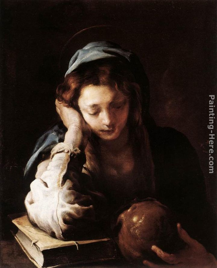 The Repentant St Mary Magdalene painting - Domenico Feti The Repentant St Mary Magdalene art painting