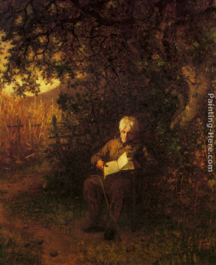 A Quiet Hour painting - Eastman Johnson A Quiet Hour art painting