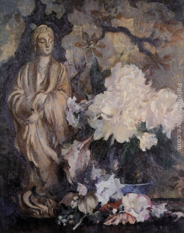Still Life with Oriental Statue painting - Edmund Charles Tarbell Still Life with Oriental Statue art painting