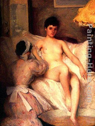 The Bath painting - Edmund Charles Tarbell The Bath art painting