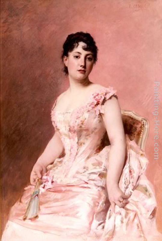 Lady in Pink painting - Edouard Cabane Lady in Pink art painting