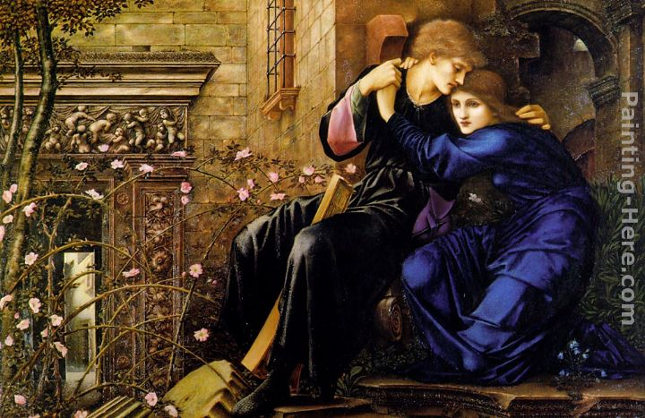 Edward Burne-Jones Love Among the Ruins Art Painting