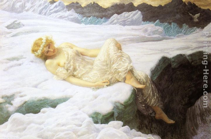 Heart of Snow painting - Edward Hughes Heart of Snow art painting