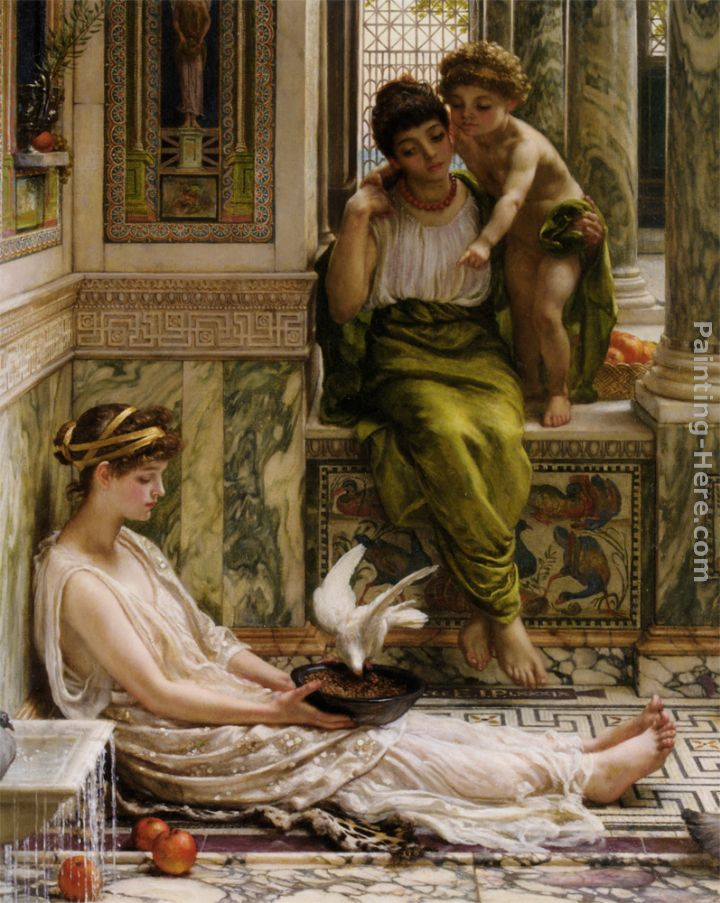 A Corner of the Villa painting - Edward John Poynter A Corner of the Villa art painting