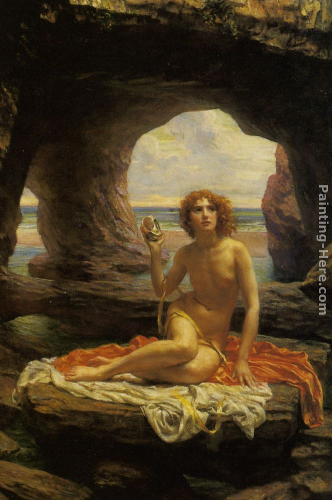 At low tide painting - Edward John Poynter At low tide art painting