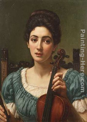 The Violinist painting - Edward John Poynter The Violinist art painting