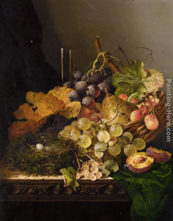 Still Life with Birds Nest painting - Edward Ladell Still Life with Birds Nest art painting