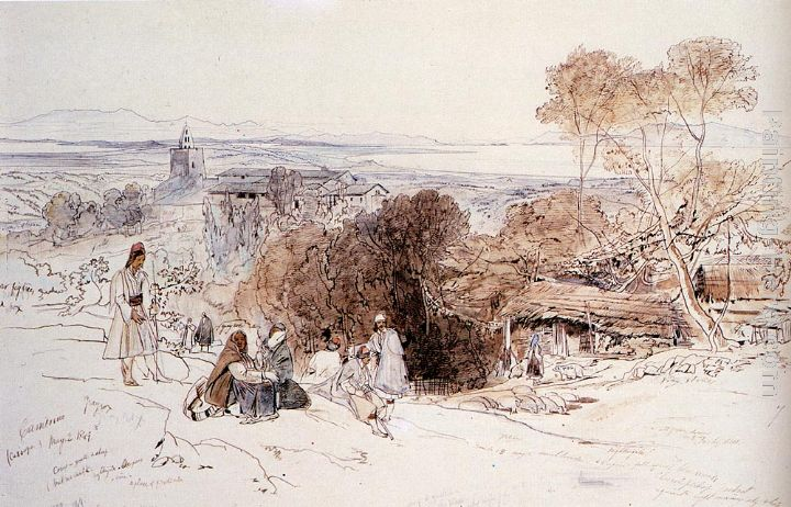Camerino, 1849 painting - Edward Lear Camerino, 1849 art painting