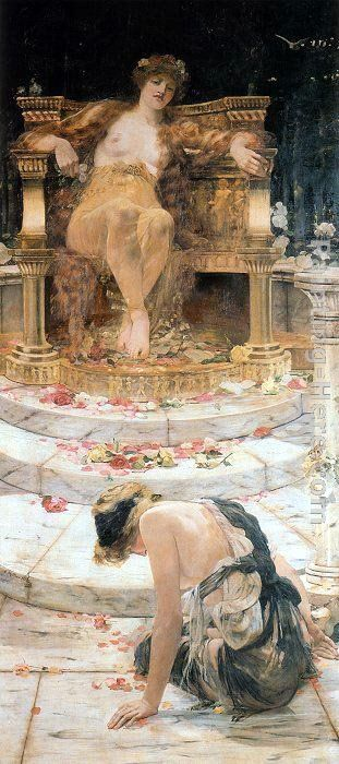 Psyche at the Throne of Venus painting - Edward Matthew Hale Psyche at the Throne of Venus art painting