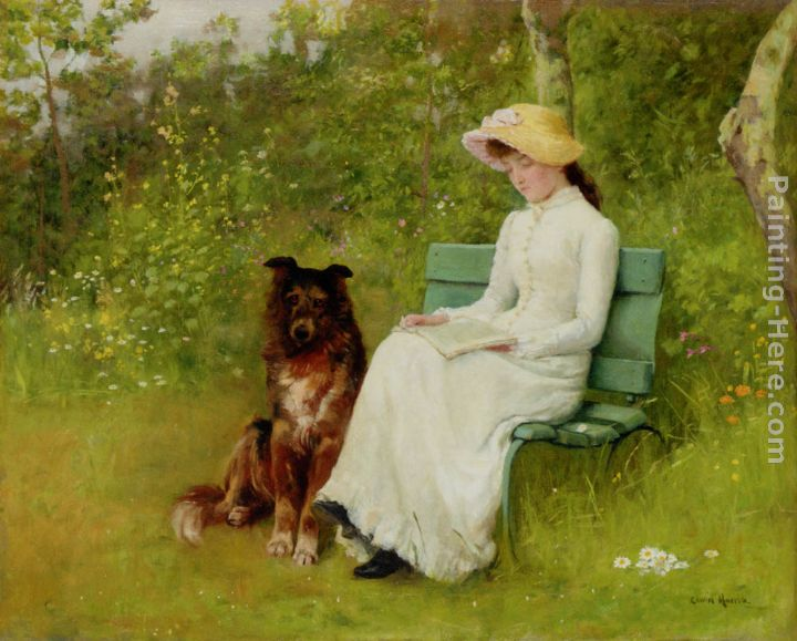 A Quiet Read painting - Edwin Harris A Quiet Read art painting