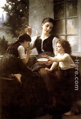 Bubbles painting - Elizabeth Jane Gardner Bouguereau Bubbles art painting