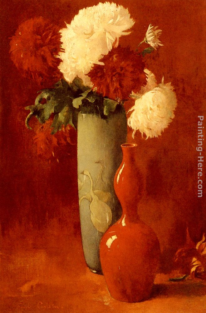 Emil Carlsen Vases And Flowers Painting Anysize 50 Off Vases And