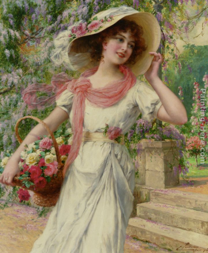 The Flower Garden painting - Emile Vernon The Flower Garden art painting