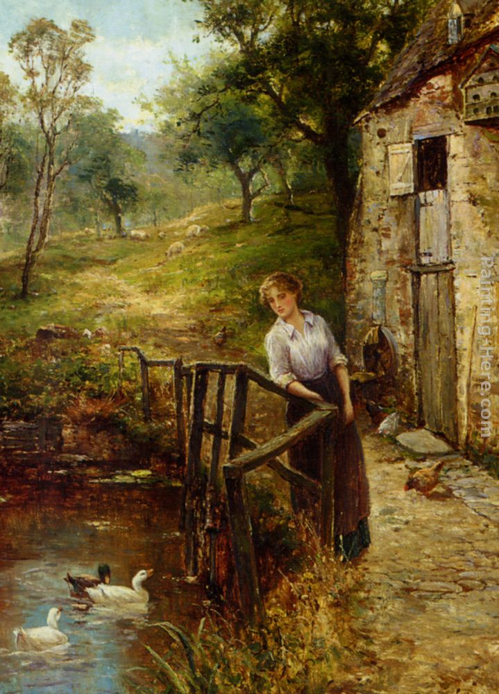 Young Lady at the Mill Pond