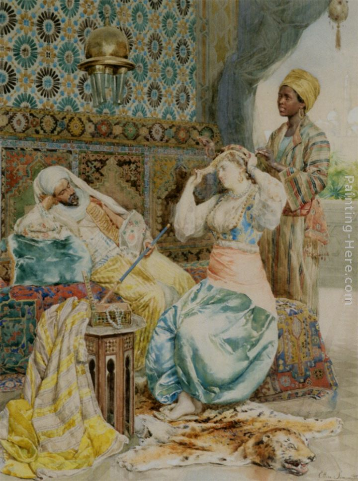 The Favoured Beauty painting - Ettore Simonetti The Favoured Beauty art painting