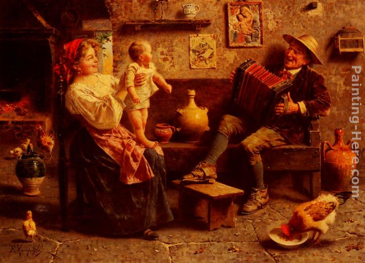 Eugenio Zampighi First Steps Art Painting