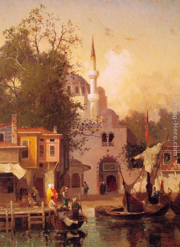 Constantinople painting - Fabius Germain Brest Constantinople art painting