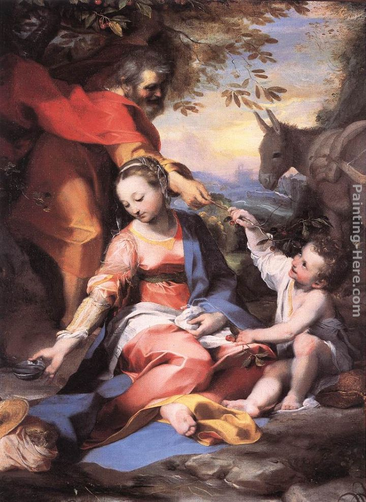 Rest on the Flight to Egypt painting - Federico Fiori Barocci Rest on the Flight to Egypt art painting