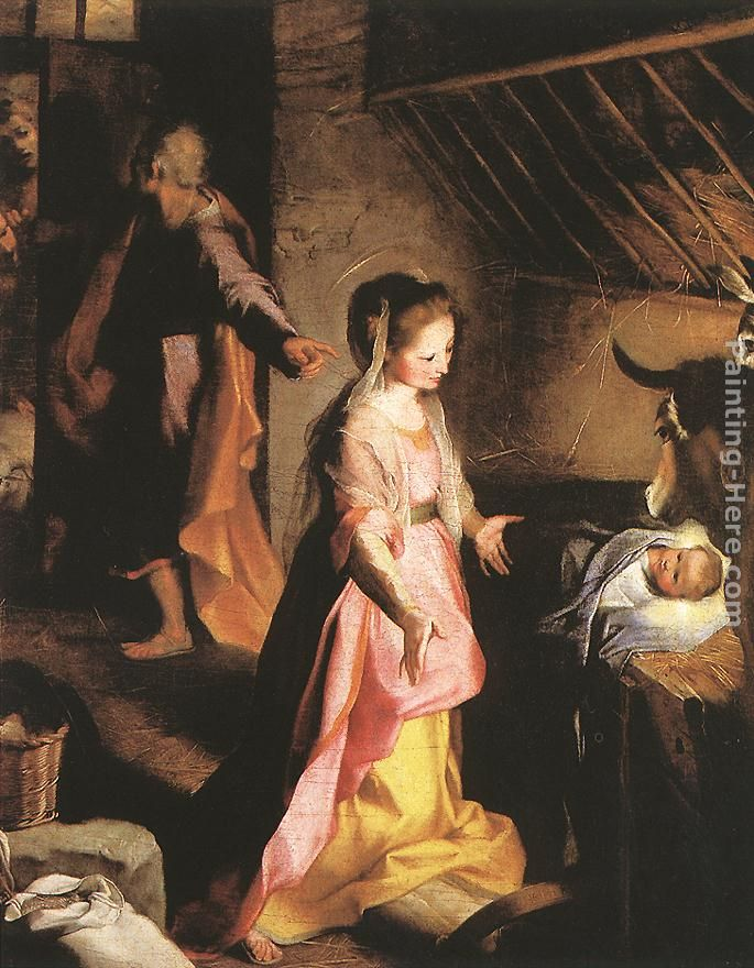 The Nativity painting - Federico Fiori Barocci The Nativity art painting