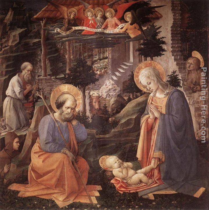 Adoration of the Child painting - Fra Filippo Lippi Adoration of the Child art painting