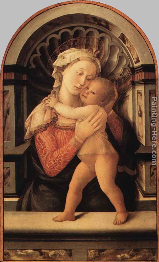 Madonna and Child painting - Fra Filippo Lippi Madonna and Child art painting