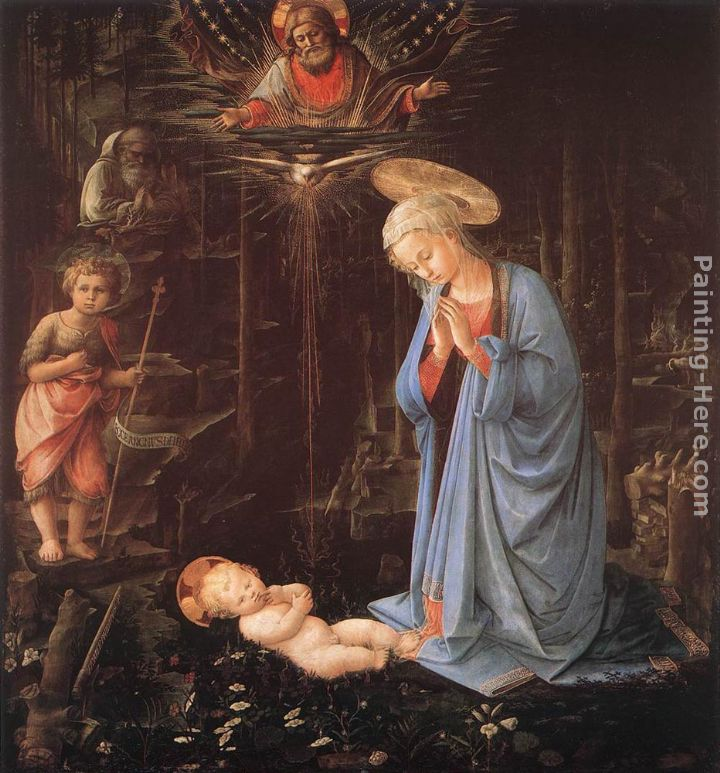 Madonna in the Forest painting - Fra Filippo Lippi Madonna in the Forest art painting